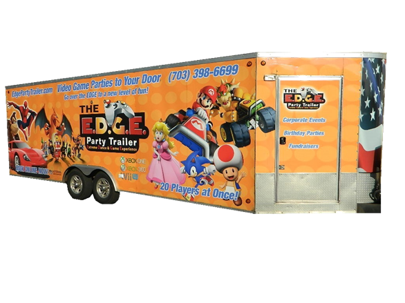 Video game truck and trailer in Washington DC, Maryland and Virginia