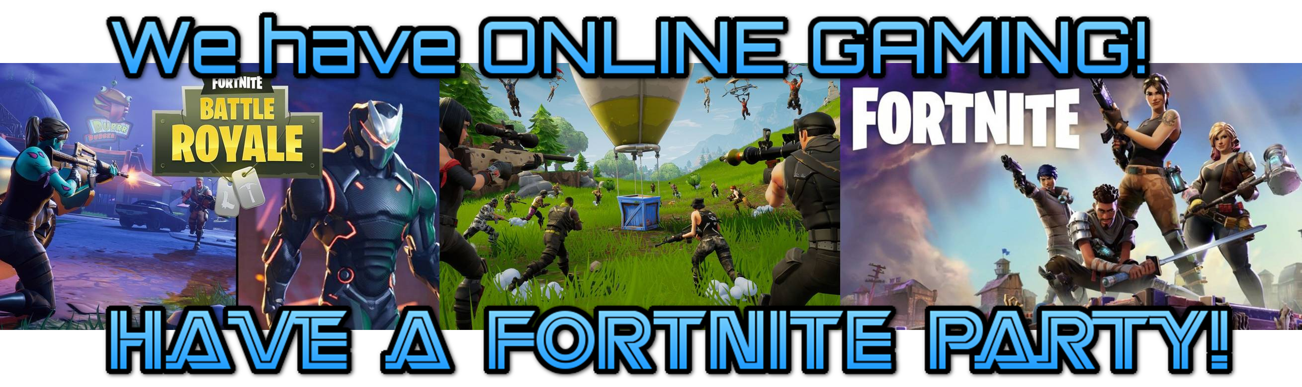 Fortnite video game birthday party in Maryland, Washington DC and Virginia