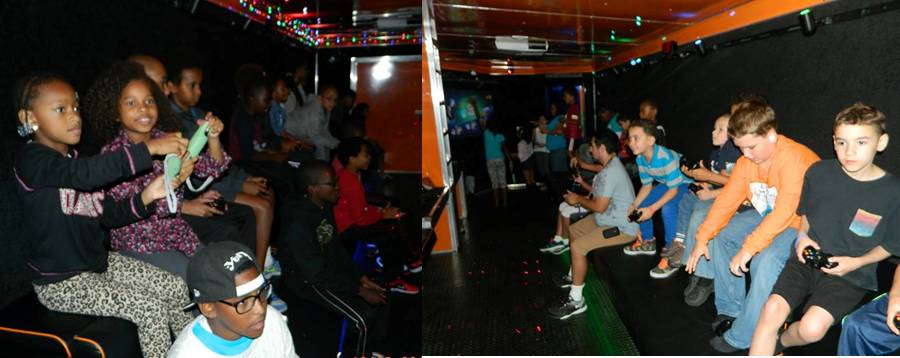 Birthday and party entertainment in our video game truck and trailer in Washington, D.C., Maryland and Virginia